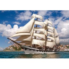 Puzzle Castorland 500 Tall ship leaving harbour