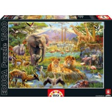 Puzzle Educa 1500 piese Africa Watering Hole
