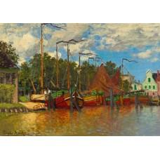 Puzzle Bluebird - Claude Monet: Boats at Zaandam 1871 1000 piese (60031)