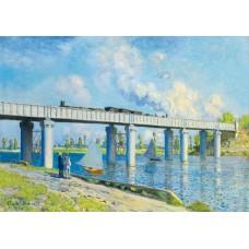 Puzzle Bluebird - Claude Monet: Railway Bridge at Argenteuil 1873 1000 piese (60038)