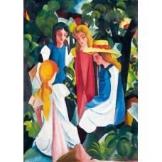 Puzzle Bluebird - August Macke: Four Girls 1913 1000 piese (60082)