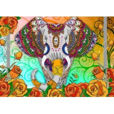 Puzzle Bluebird - Colorful Elephant 2.000 piese (70002)