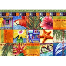 Puzzle Bluebird - Tropical Quilt Mosaic 1500 piese (70081)