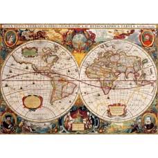 Puzzle Bluebird - Antique World Map 1000 piese (Bluebird-Puzzle-70246-P)