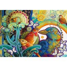 Puzzle Bluebird - David Galchutt: Basket of Paradise 1.000 piese