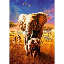 Puzzle Bluebird - Adrian Chesterman: Elephant 1000 piese (70314-P)
