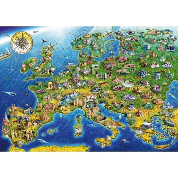 Puzzle Bluebird - Adrian Chesterman: European Landmarks 1000 piese (70322-P)