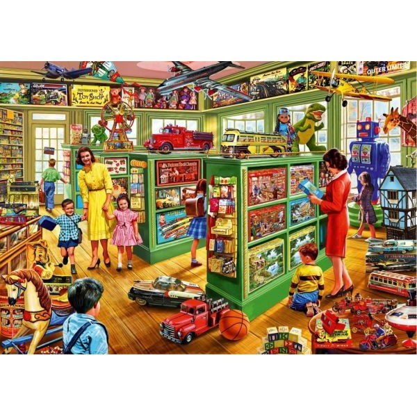 Puzzle Bluebird - Steve Crisp: Toy Shop interiors 1.000 piese