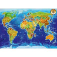 Puzzle Bluebird - Adrian Chesterman: World Geo-Political Map 1000 piese (70337-P)