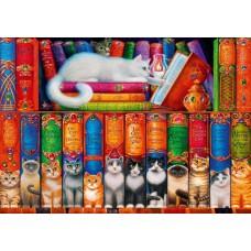Puzzle Bluebird - Cat Bookshelf 1000 piese (70344-P)