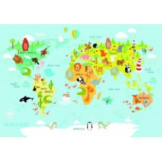 Puzzle Bluebird - World Map for Kids 150 piese (70357)