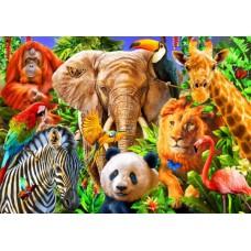 Puzzle Bluebird - Animals for kids 150 piese (70391)