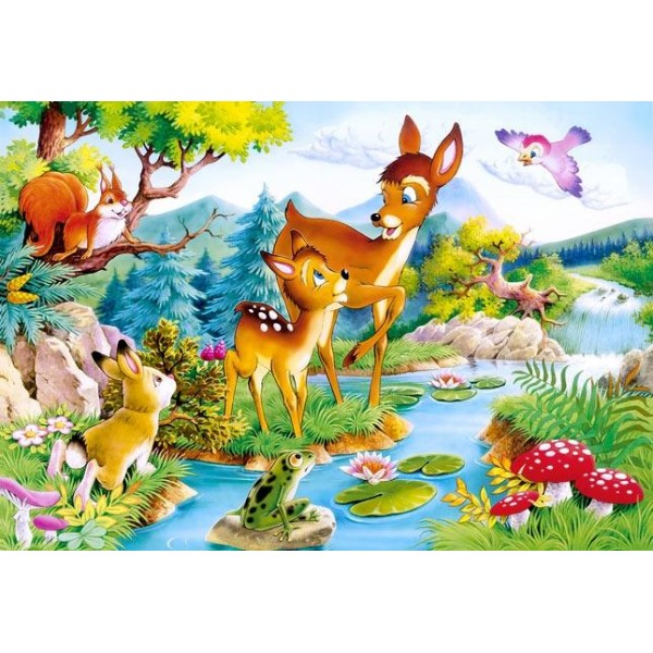 Puzzle Castorland - 120 de piese - Little Deer