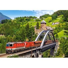 Puzzle Castorland 500 Frank Andiver: Train on the bridge