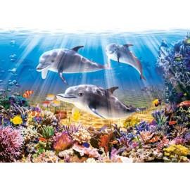 Puzzle Castorland 500 Doplphins Underwater