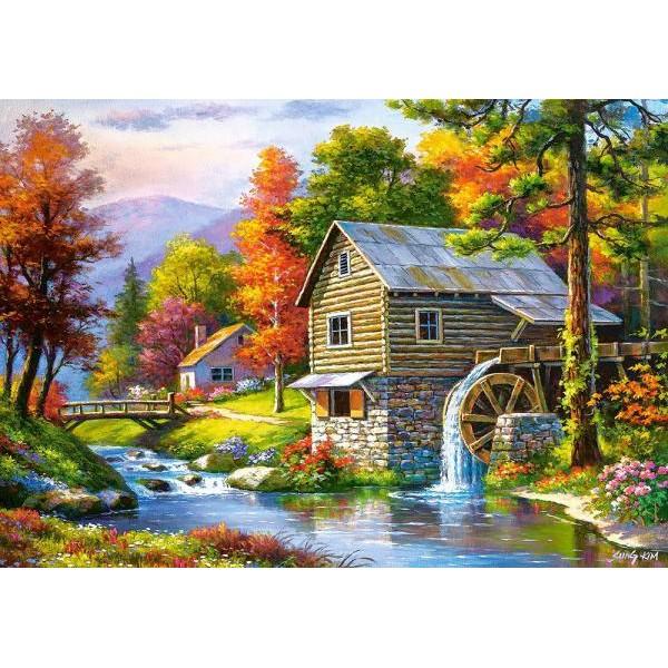 Puzzle Castorland 500 Sung Kim : Vechea moara