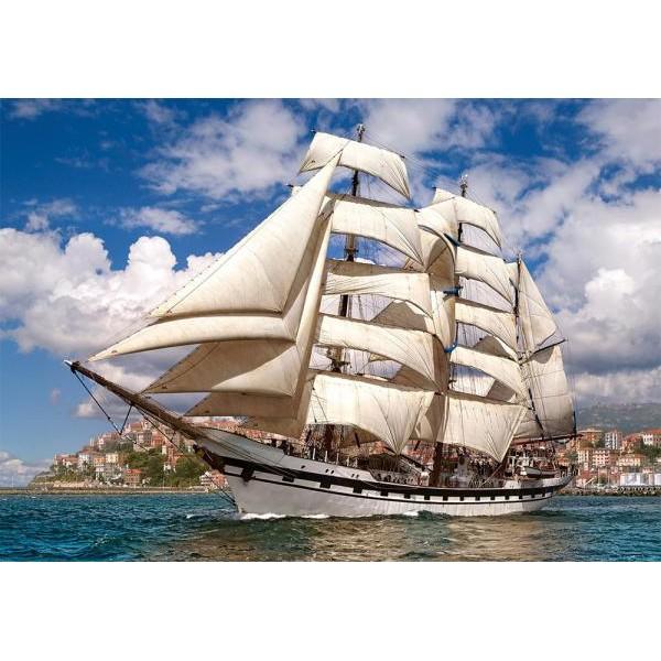 Puzzle Castorland - 500 de piese - Tall ship leaving harbour