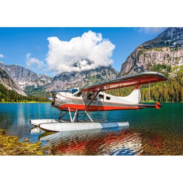 Puzzle Castorland 500 Bjoern Schmitt: FLOATPLANE ON MOUNTAIN LAKE