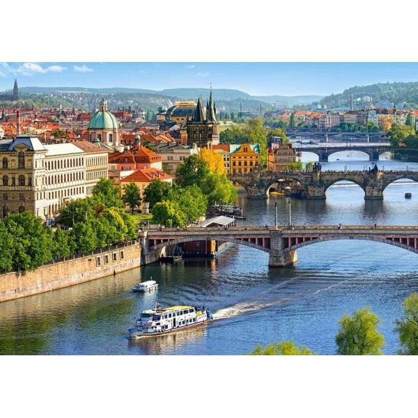 Puzzle Castorland 500 VIEW OF BRIDGES IN PRAGUE