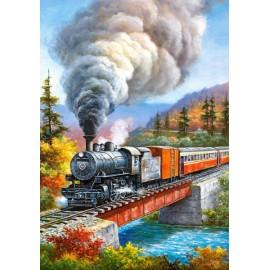Puzzle Castorland 500 TRAIN CROSSING