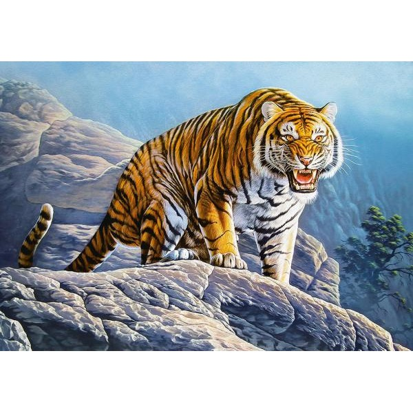 Puzzle Castorland - Tiger on the Rocks 500 piese (53346)