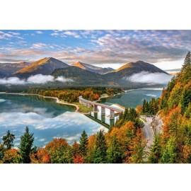Puzzle Castorland 500 Sunrise over Sylvenstein lake