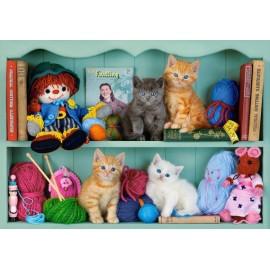 Puzzle Castorland 500 Kitten Shelves