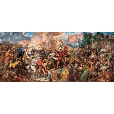 Puzzle Castorland 600 panoramic The battle of Grunwald Jan Matejko