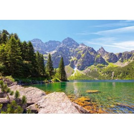 Puzzle Castorland - 1000 de piese - Morskie Oko Lake, Tatras, Poland
