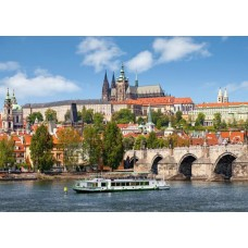 Puzzle Castorland - 1000 de piese - Praga, Cehia