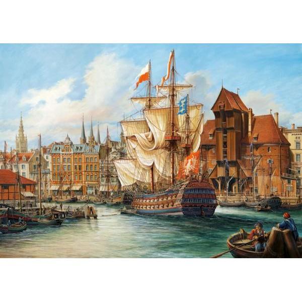 Puzzle Castorland - 1000 de piese - The Old Gdansk