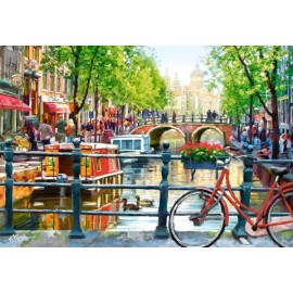 Puzzle Castorland - 1000 de piese - Macneil : Amsterdam Landscape