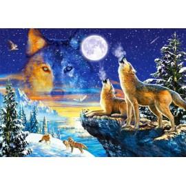Puzzle Castorland - 1000 de piese - Howling Wolves
