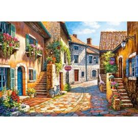 Puzzle Castorland - 1000 de piese - Sung Kim : Rue de Vilage