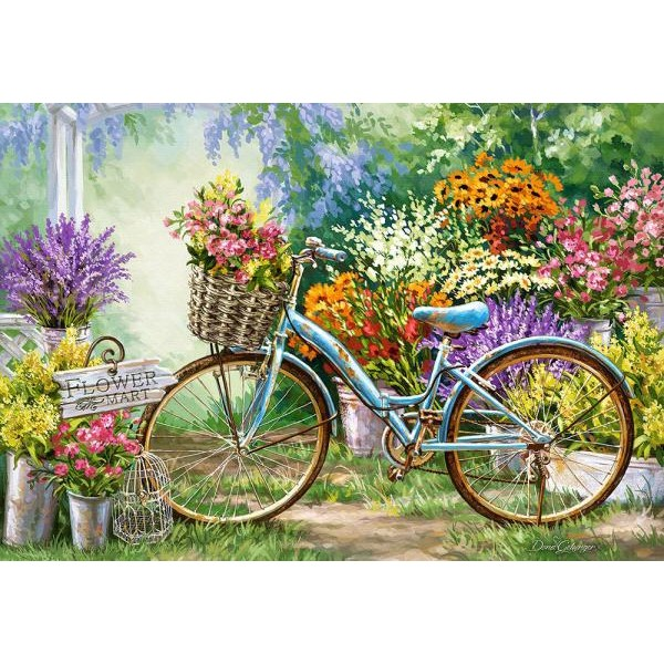 Puzzle Castorland - The Flower Mart 1000 piese