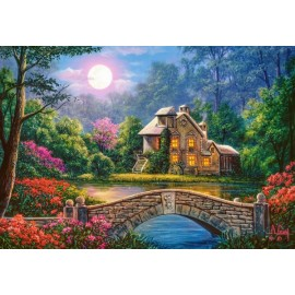 Puzzle Castorland 1000 COTTAGE IN THE MOON GARDEN