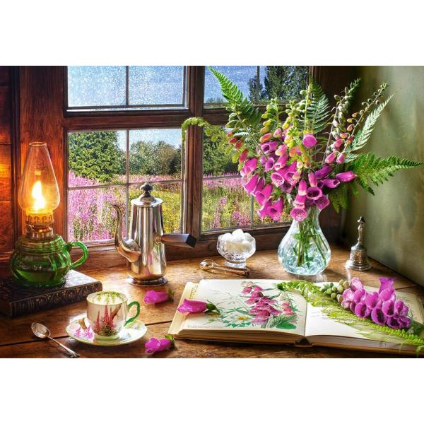 Puzzle Castorland 1000 STILL LIFE WITH VIOLET SNAPDRAGONS