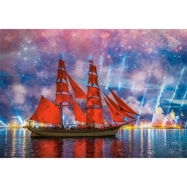 Puzzle Castorland - Red Frigate 1.000 piese (104482)