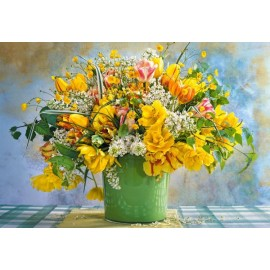 Puzzle Castorland 1000 Spring flowers in green vase