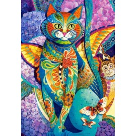 Puzzle Castorland - 1500 de piese - David Galchutt : Feline Fiesta