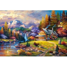 Puzzle Castorland - 1500 de piese - James Lee : Mountain Hideaway