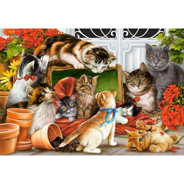 Puzzle Castorland 1500 Interlitho: Kittens Play Team