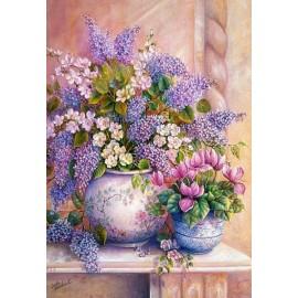 Puzzle Castorland 1500 Trisha Hardwick : Flori de liliac