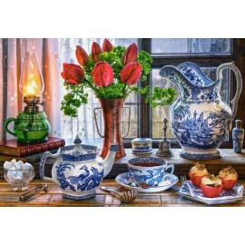 Puzzle Castorland 1500 Marcus Rodriguez : STILL LIFE WITH TULIPS