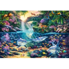 Puzzle Castorland 1500 Steve Read : JUNGLE PARADISE