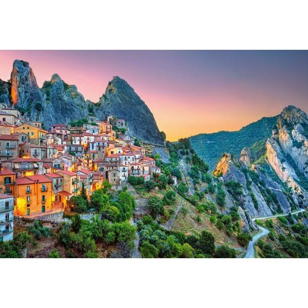 Puzzle Castorland 1500 Sunrise over Castelmezzano