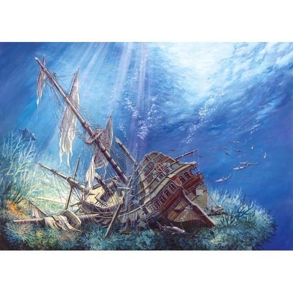 Puzzle Castorland - 2000 de piese - Galion scufundat