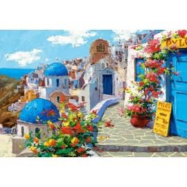 Puzzle Castorland - 2000 de piese - Viktor Shvaiko : Spring in Santorini