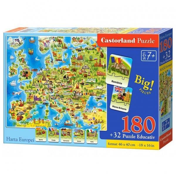 Puzzle Castorland Harta Europei