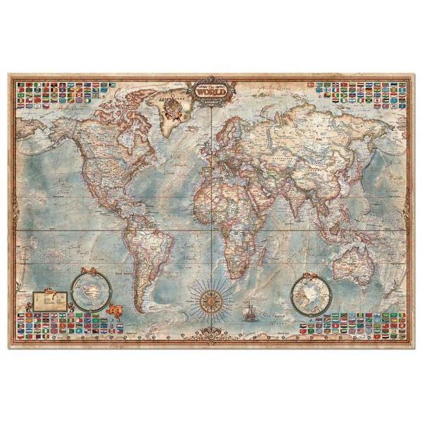 Puzzle Educa 4000 The world executive map